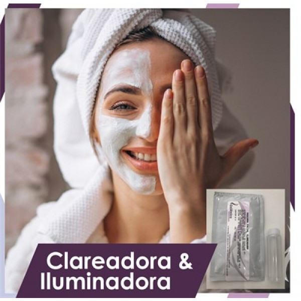 Máscara facial peel-off clareadora e iluminadora